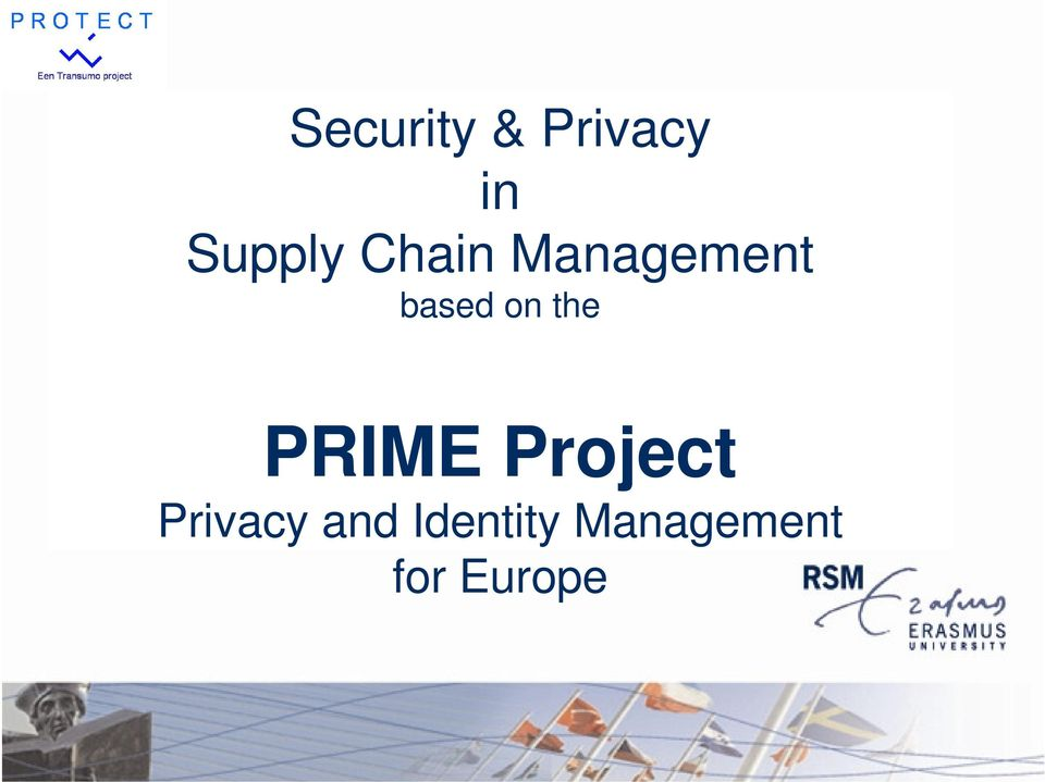 the PRIME Project Privacy