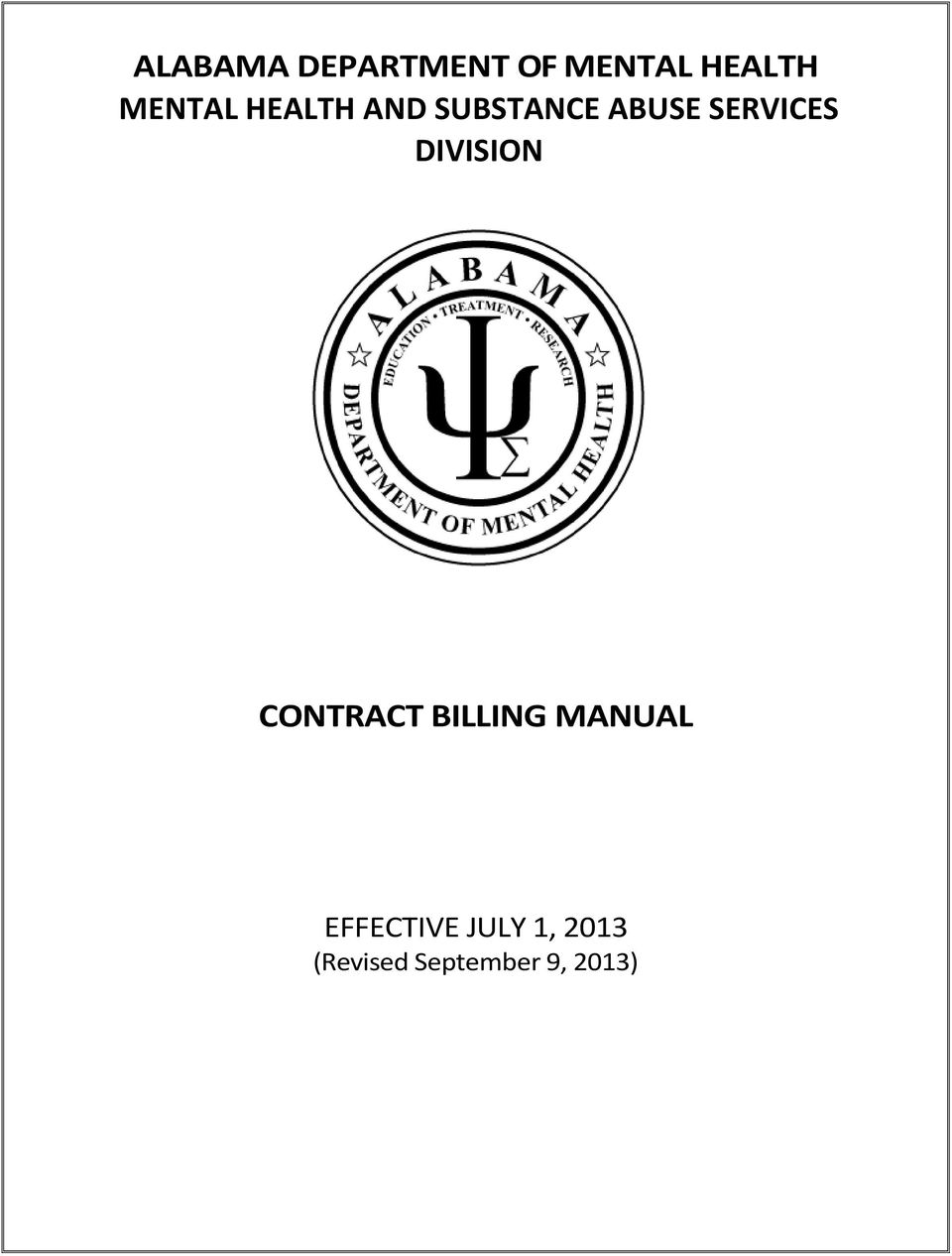 SERVICES DIVISION CONTRACT BILLING