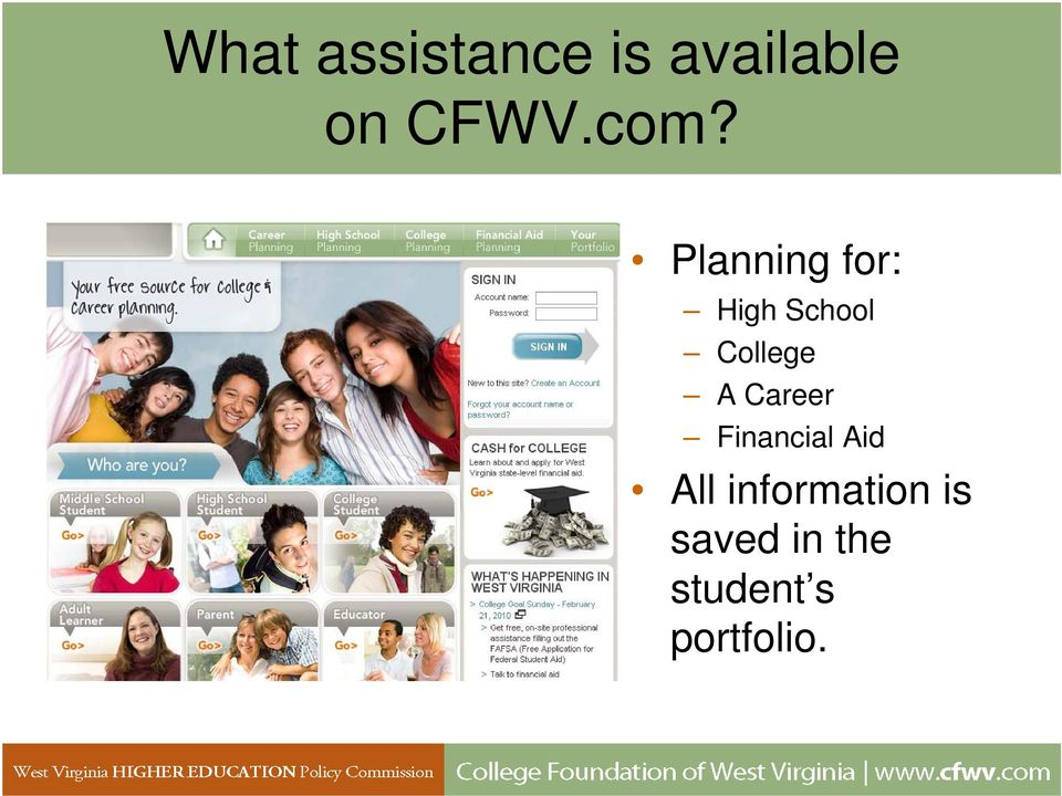 College A Career Financial Aid All