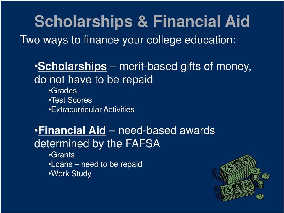 repaid Grades Test Scores Extracurricular Activities Financial Aid