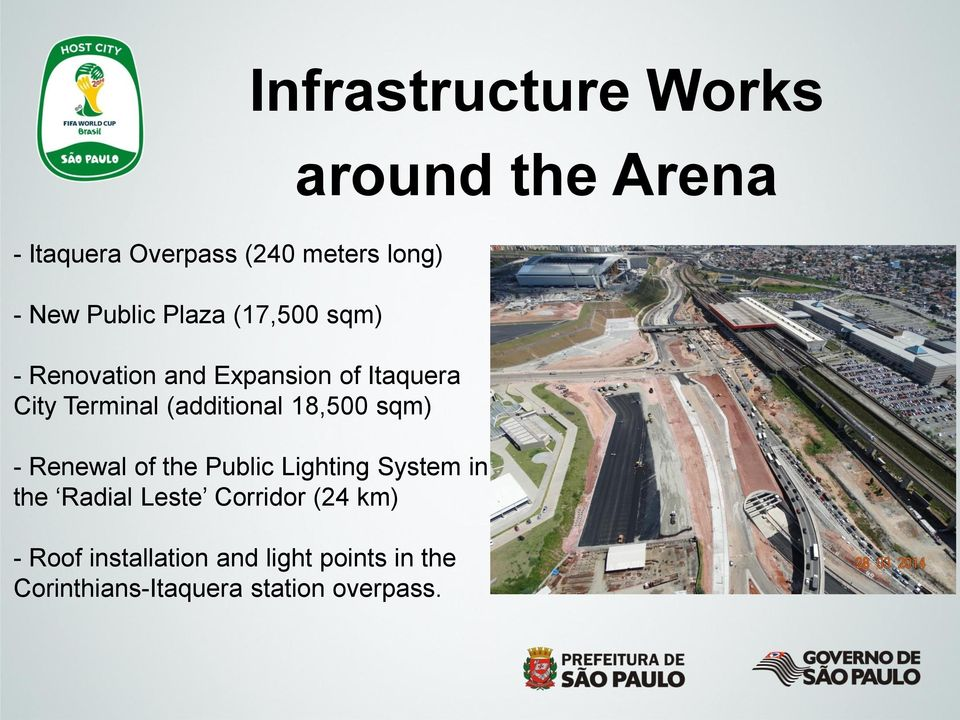 (additional 18,500 sqm) - Renewal of the Public Lighting System in the Radial Leste