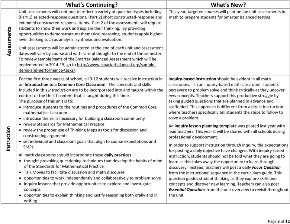 Part 2 of the assessments will require students to show their work and explain their thinking.