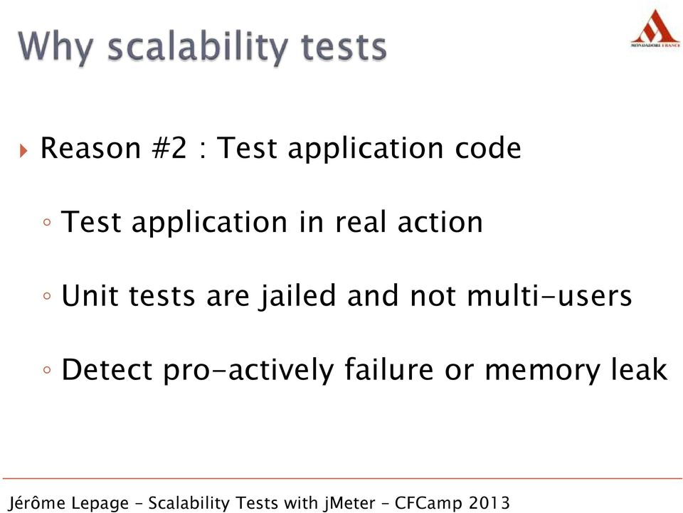 tests are jailed and not multi-users