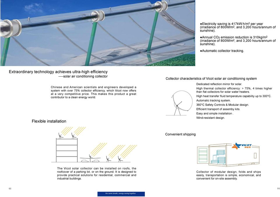 Extraordinary technology achieves ultra-high efficiency solar air conditioning collector Flexible installation Chinese and American scientists and engineers developed a system with over 75% collector