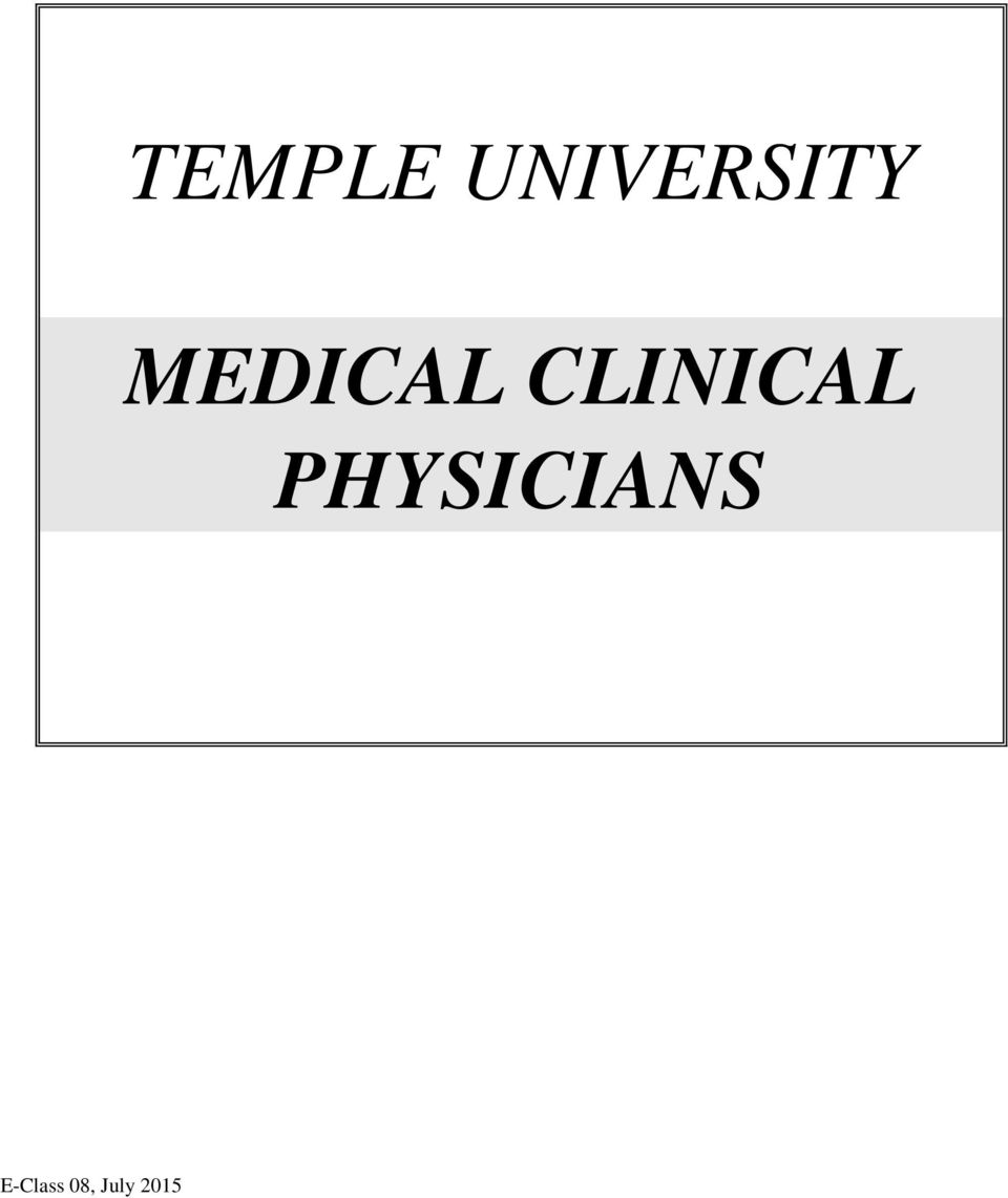 MEDICAL CLINICAL