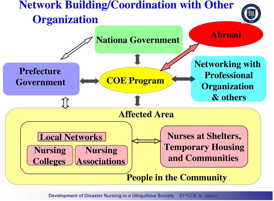 Professional Organization & others Local Networks Nursing Colleges Nursing