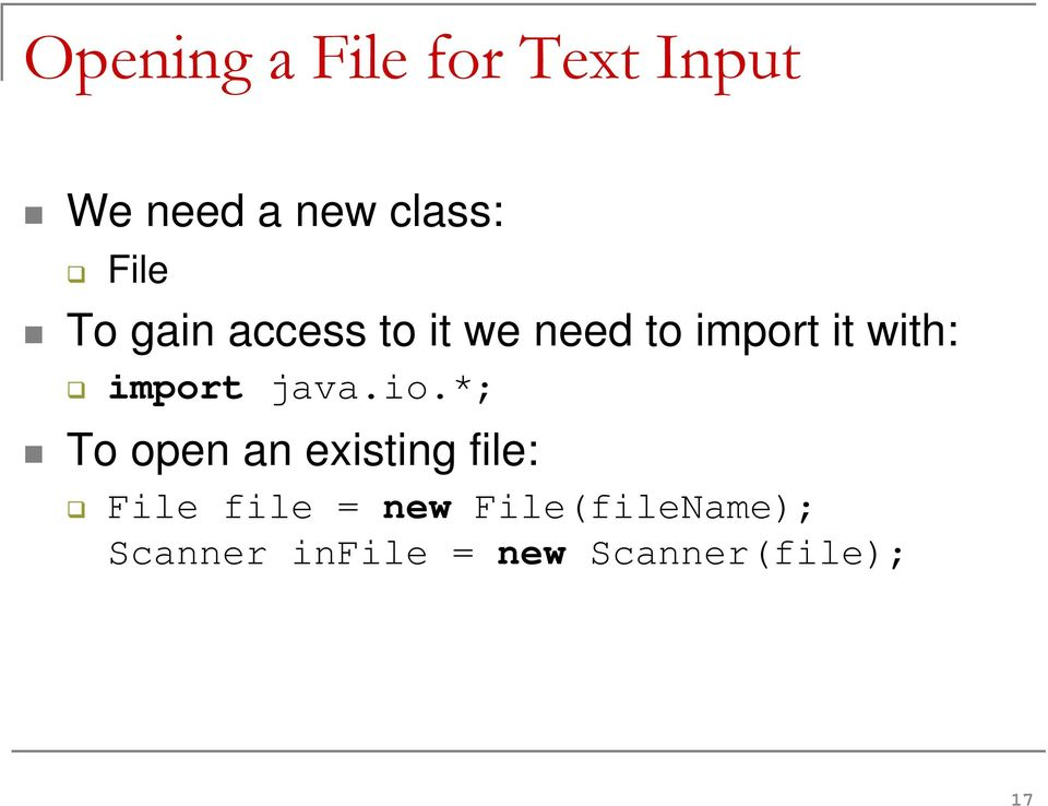import java.io.
