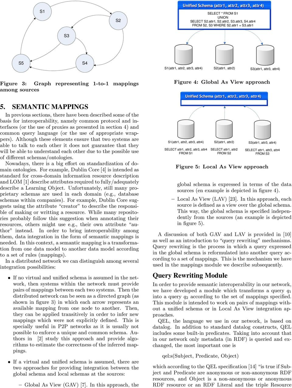SEMANTIC MAPPINGS In previous sections, there have been described some of the basis for interoperability, namely common protocol and interfaces (or the use of proxies as presented in section 4) and