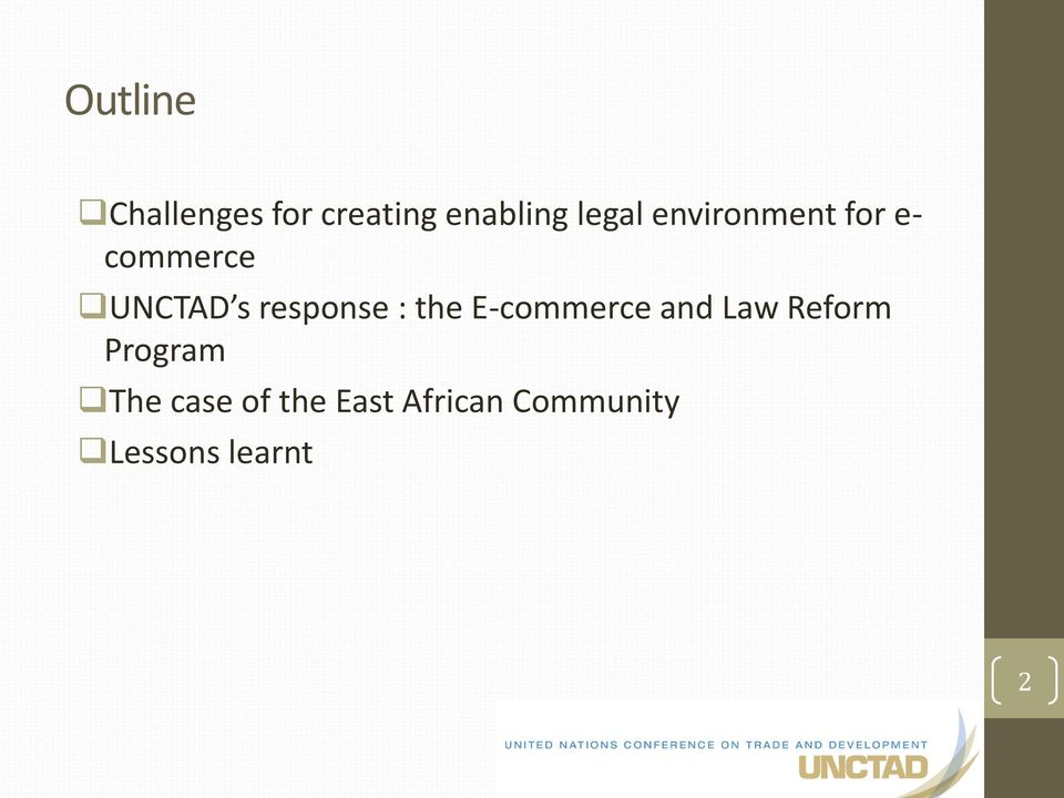: the E-commerce and Law Reform Program The