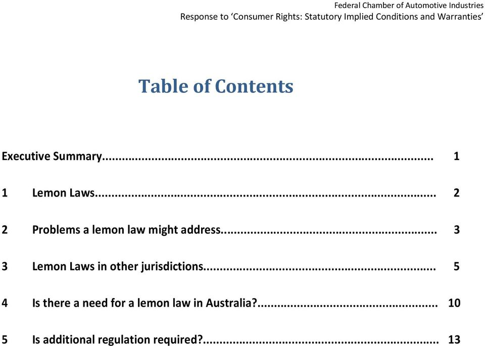 .. 3 3 Lemon Laws in other jurisdictions.