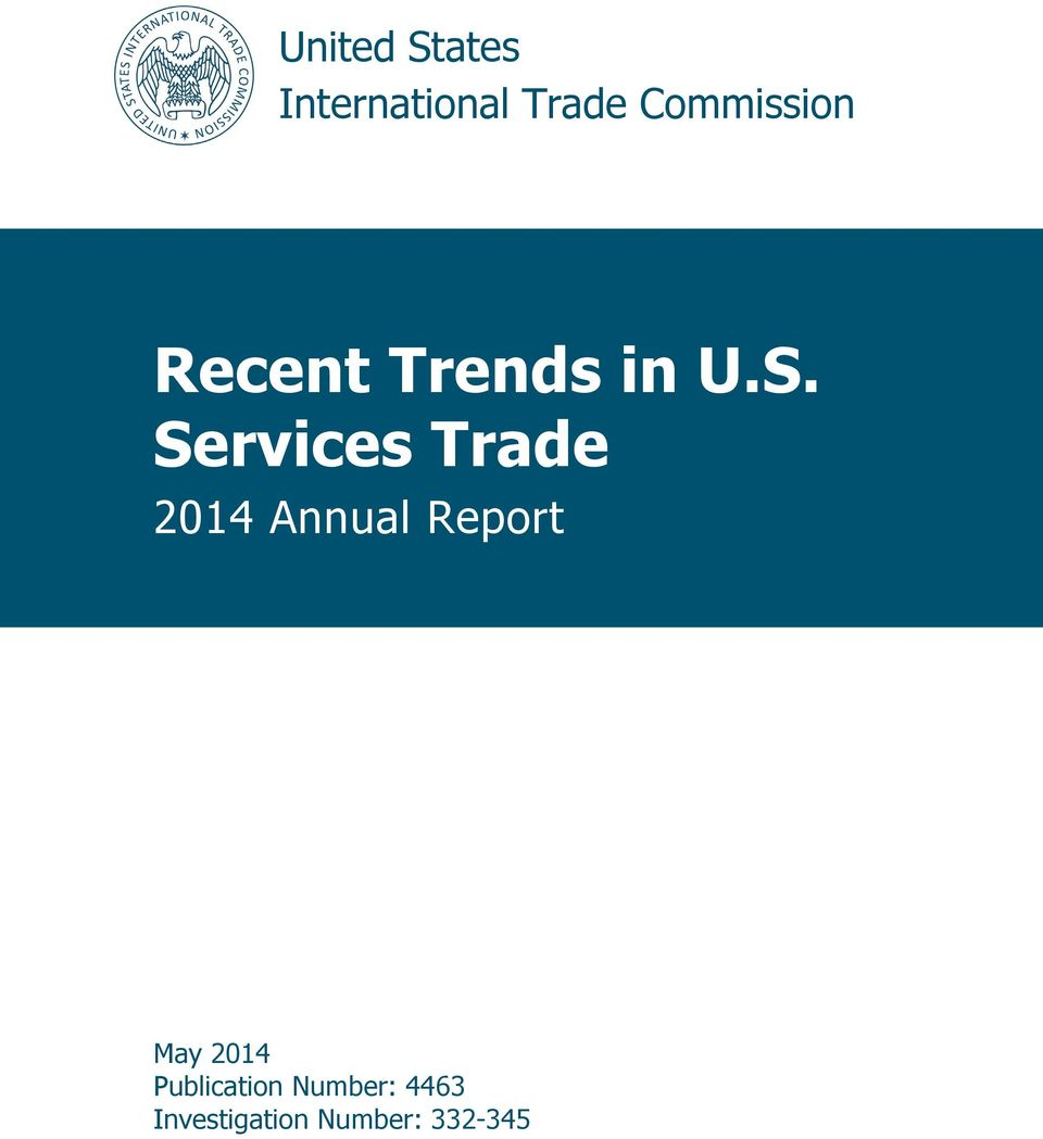 Services Trade 2014 Annual Report May