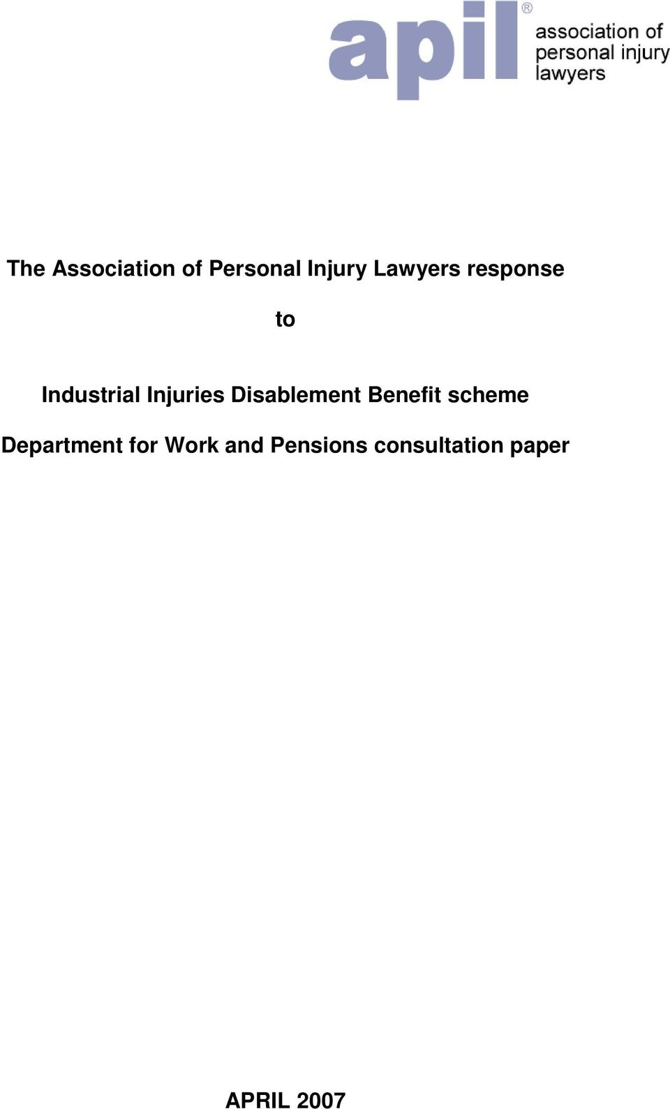 Disablement Benefit scheme Department