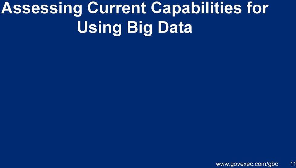 Using Big Data