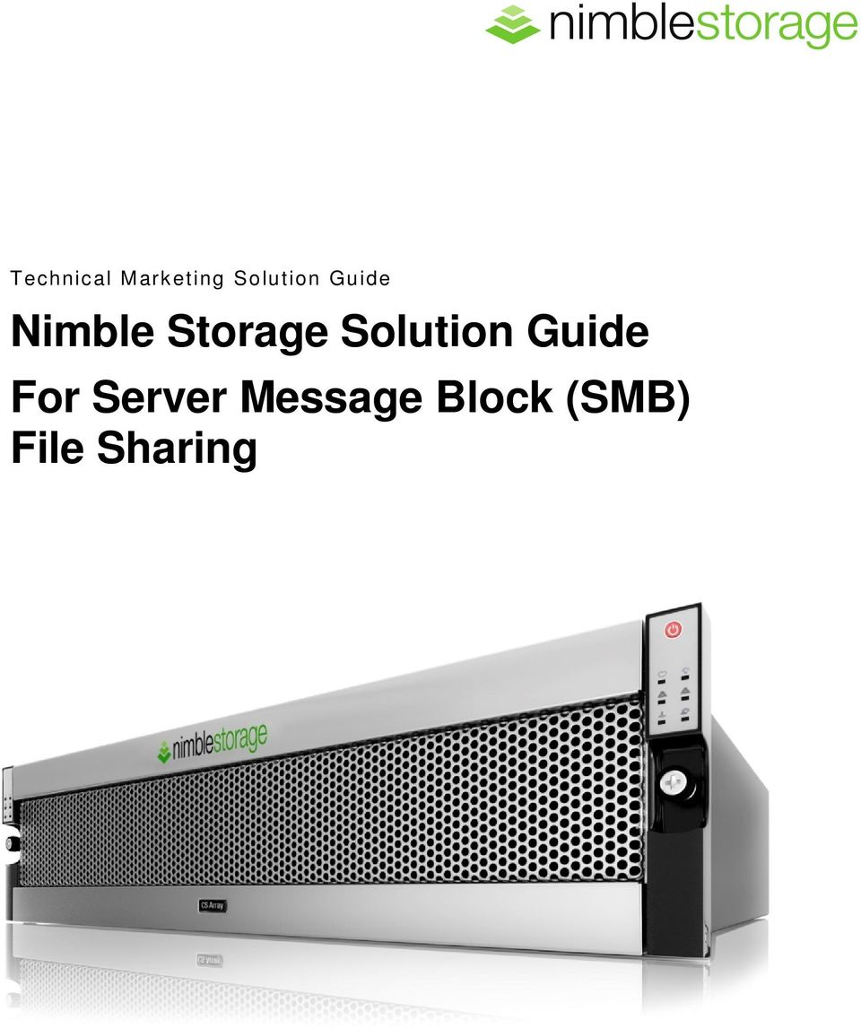 Storage Solution Guide For