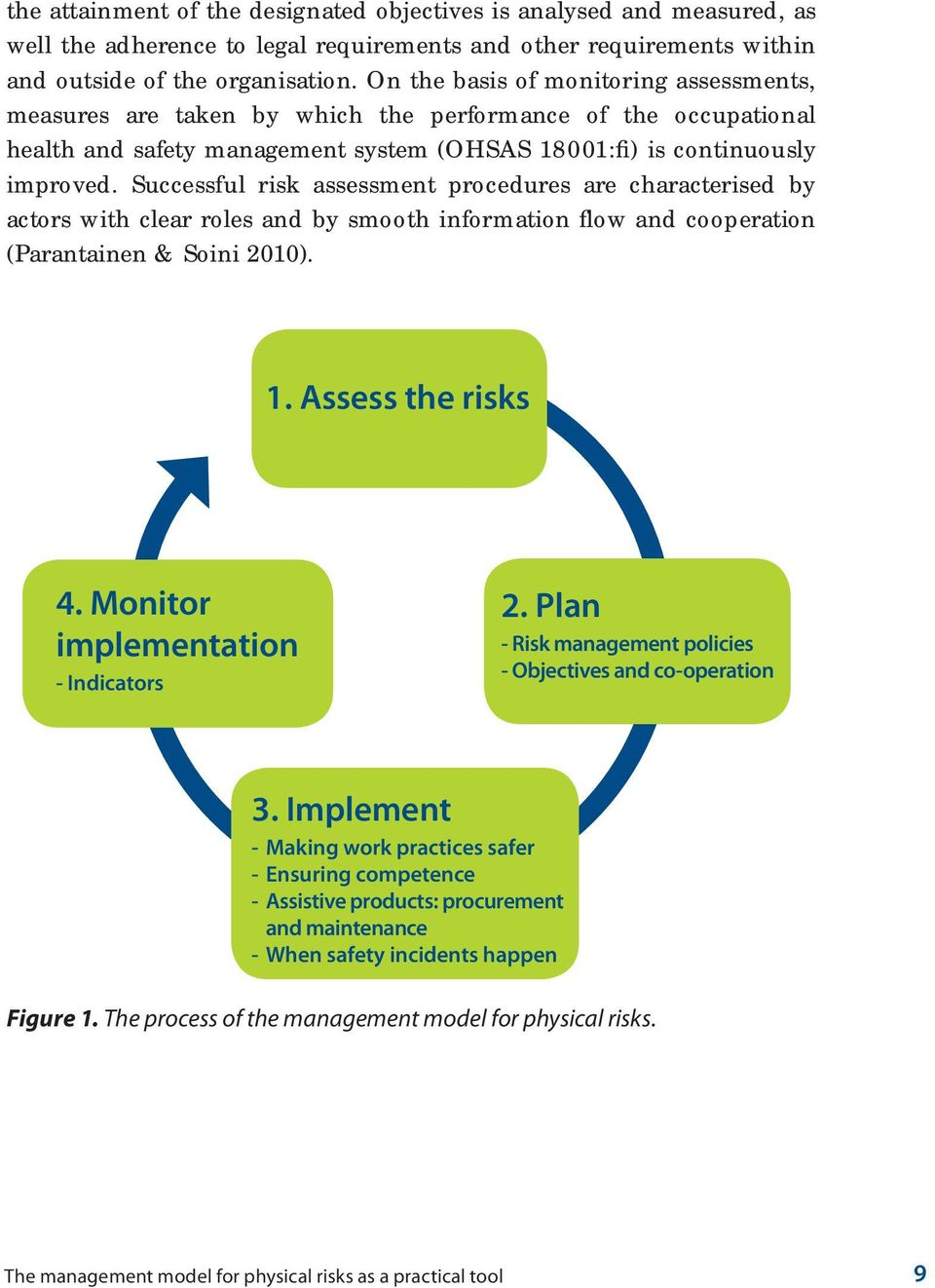 Successful risk assessment procedures are characterised by actors with clear roles and by smooth information flow and cooperation (Parantainen & Soini 2010). 1. Assess the risks 4.