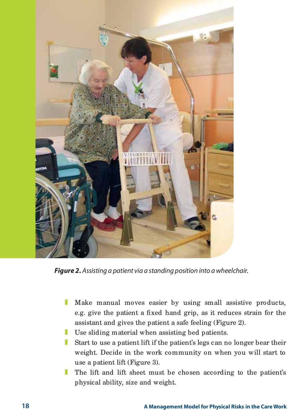 Decide in the work community on when you will start to use a patient lift (Figure 3).