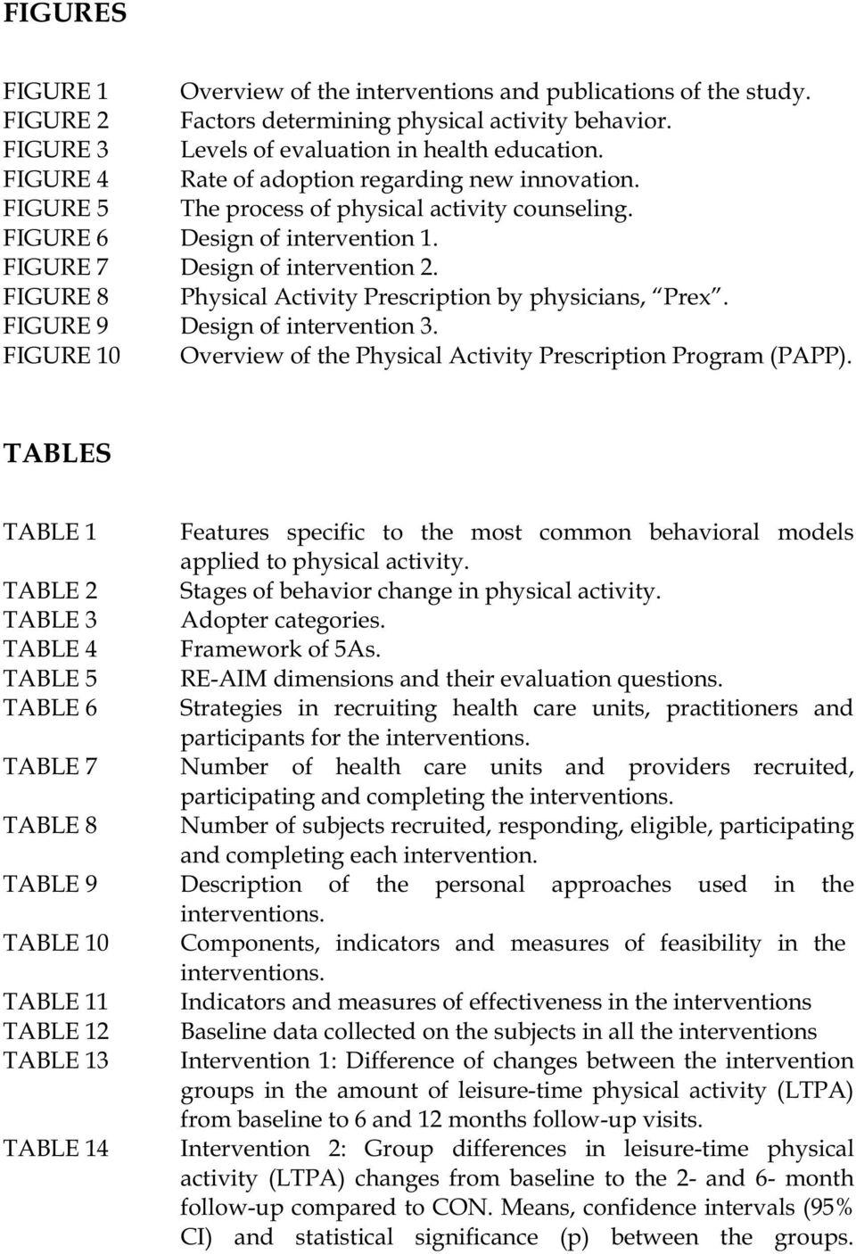 FIGURE 8 Physical Activity Prescription by physicians, Prex. FIGURE 9 Design of intervention 3. FIGURE 10 Overview of the Physical Activity Prescription Program (PAPP).