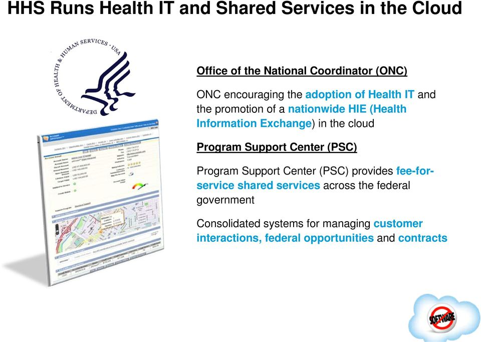 Program Support Center (PSC) Program Support Center (PSC) provides fee-forservice shared services across the