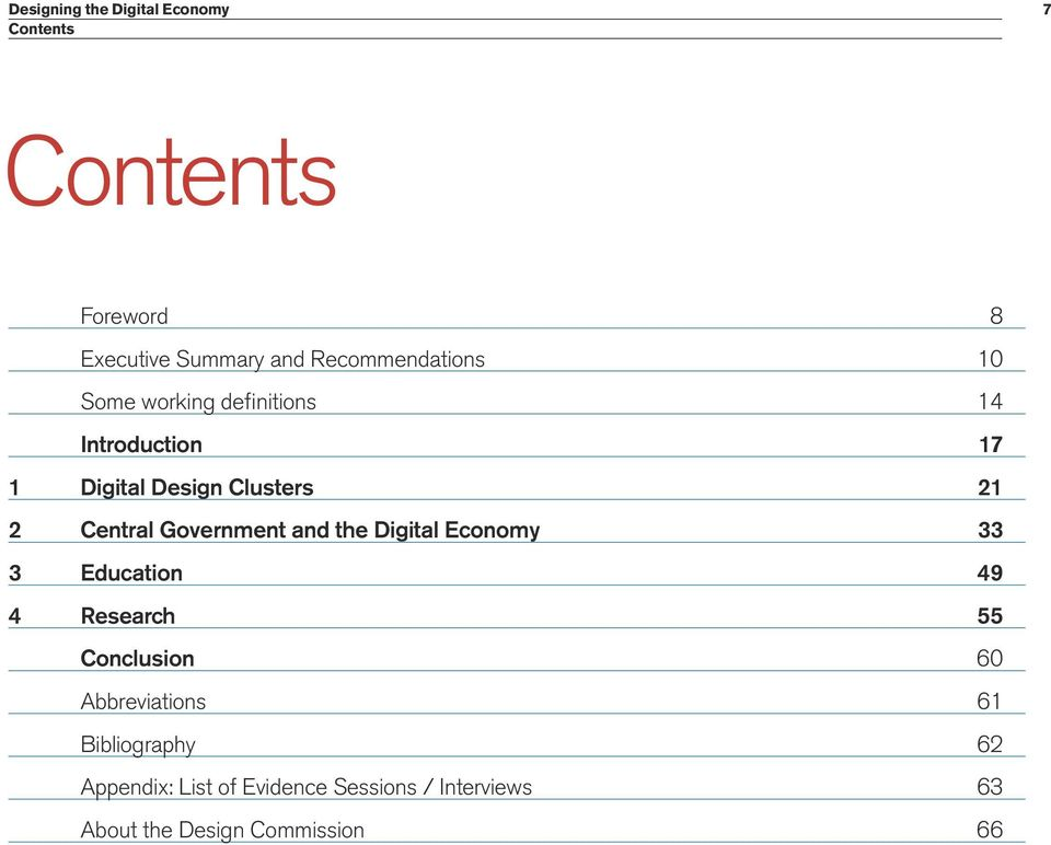 Central Government and the Digital Economy 33 3 Education 49 4 Research 55 Conclusion 60