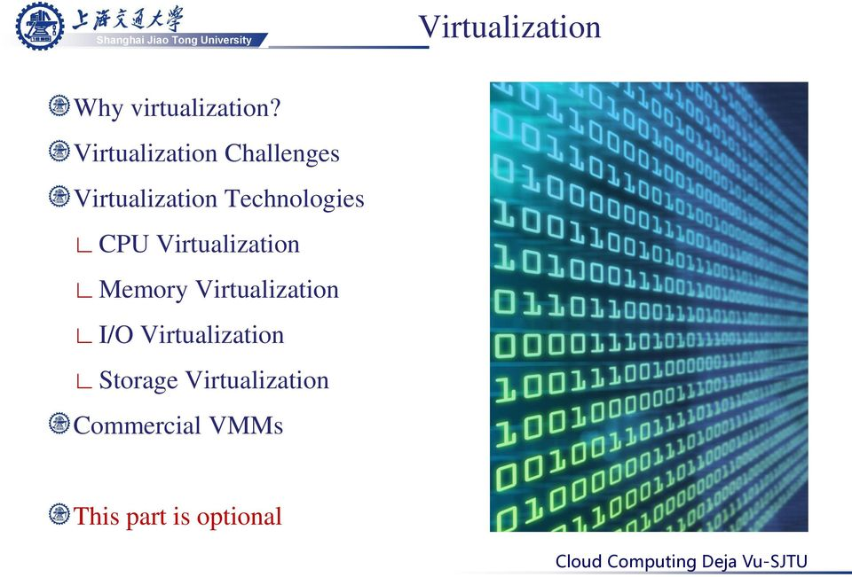 Technologies CPU Virtualization Memory