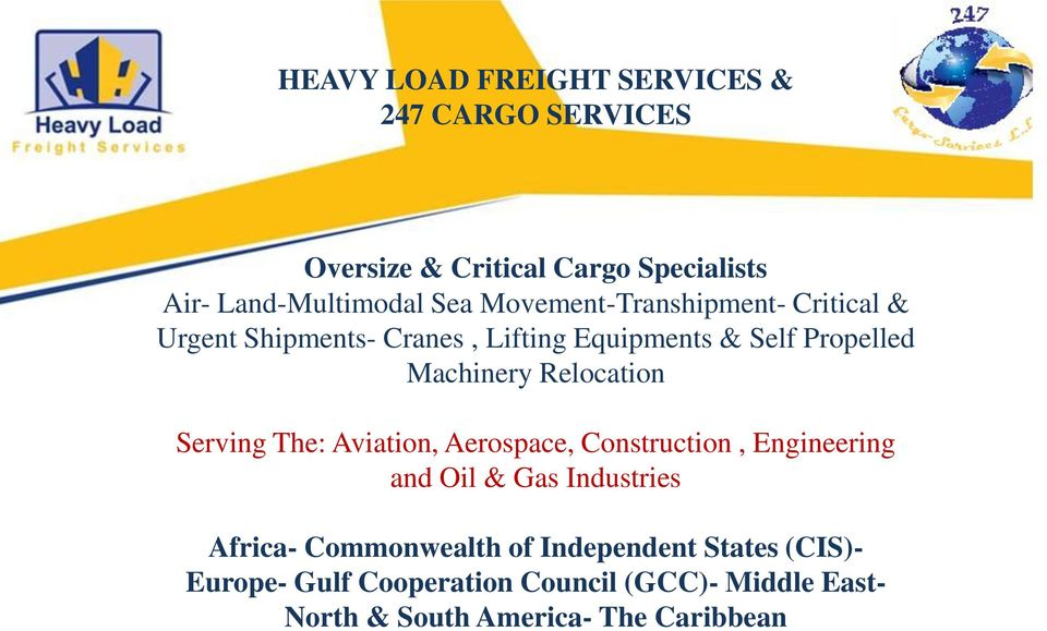 Relocation Serving The: Aviation, Aerospace, Construction, Engineering and Oil & Gas Industries Africa-