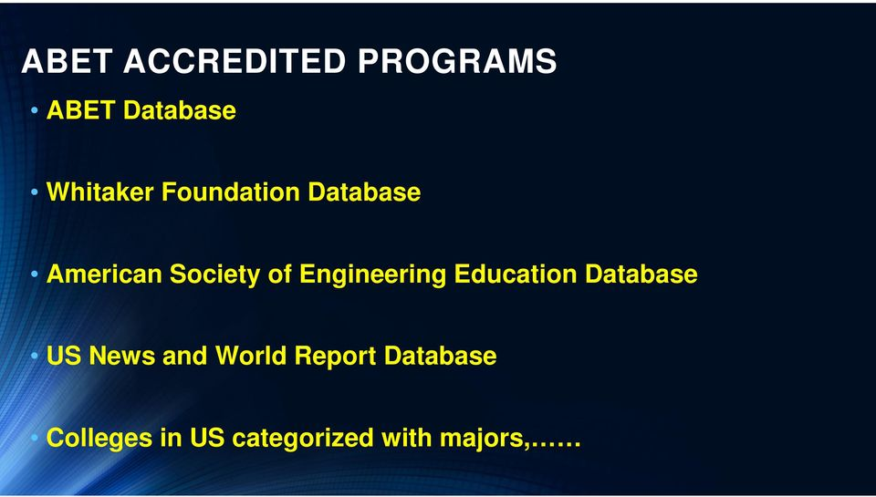 Engineering Education Database US News and