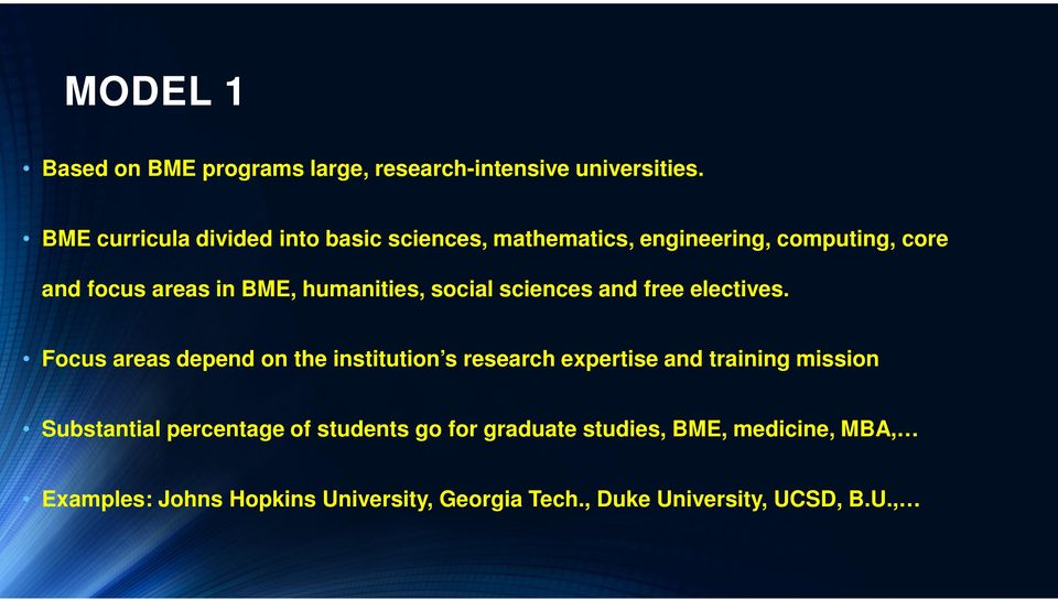 humanities, social sciences and free electives.