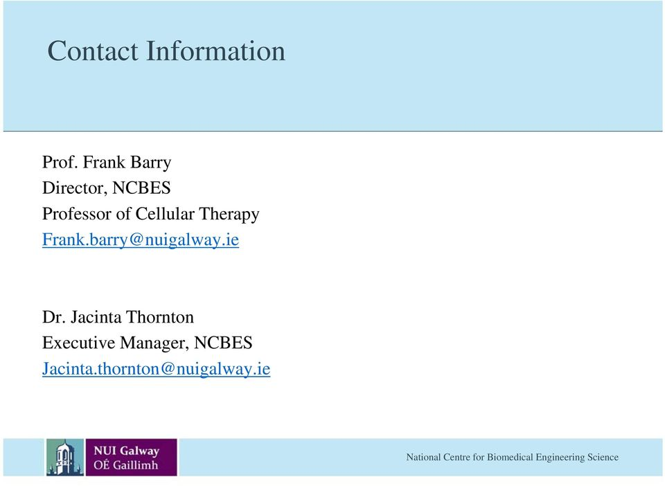 Therapy Frank.barry@nuigalway.ie y Dr.