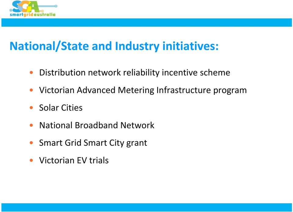 Metering Infrastructure program Solar Cities National