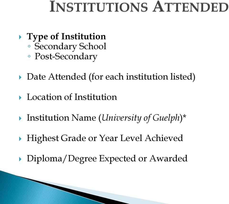 Institution Institution Name (University of Guelph)*