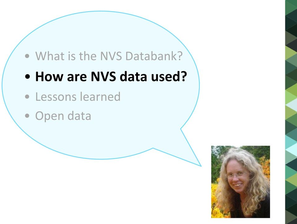 How are NVS data