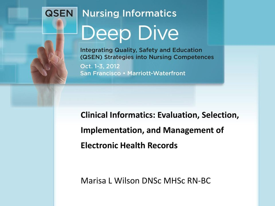 Health Records lclinical Informatics: Evaluation,