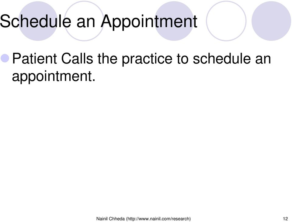 an appointment.
