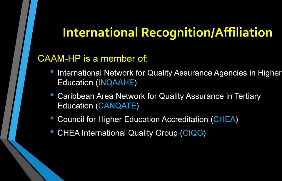 Caribbean Area Network for Quality Assurance in Tertiary Education (CANQATE)