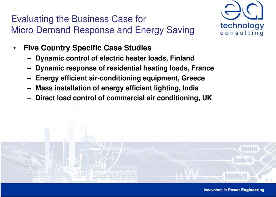 residential heating loads, France Energy efficient air-conditioning equipment, Greece Mass