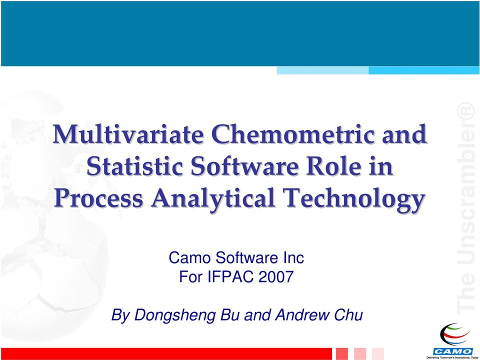 Analytical Technology Camo Software