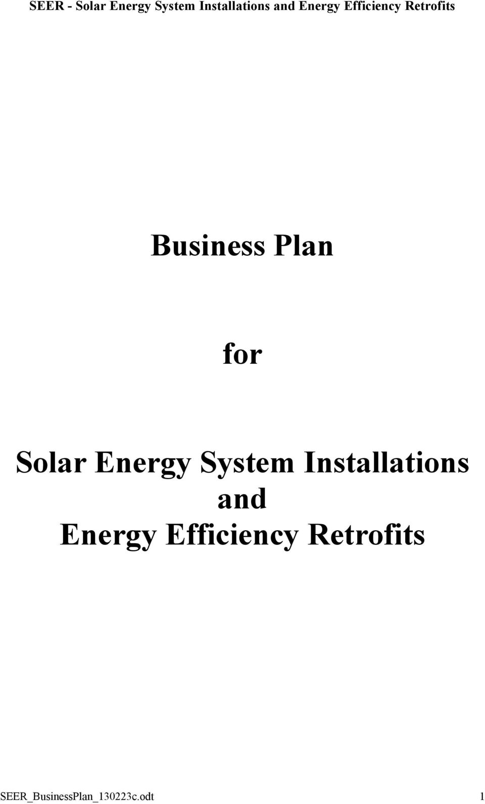 and Energy Efficiency