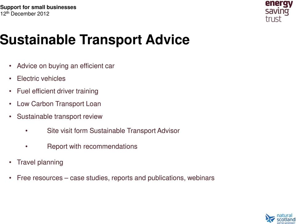transport review Site visit form Sustainable Transport Advisor Report with