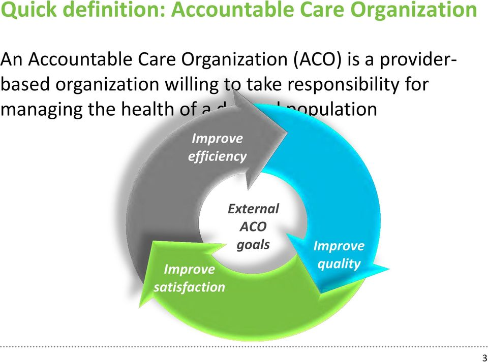 responsibility for managing the health of a defined population