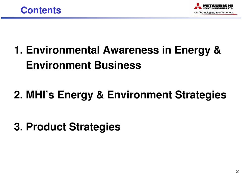 & Environment Business 2.
