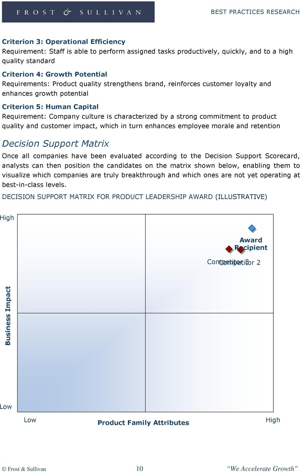 and customer impact, which in turn enhances employee morale and retention Decision Support Matrix Once all companies have been evaluated according to the Decision Support Scorecard, analysts can then