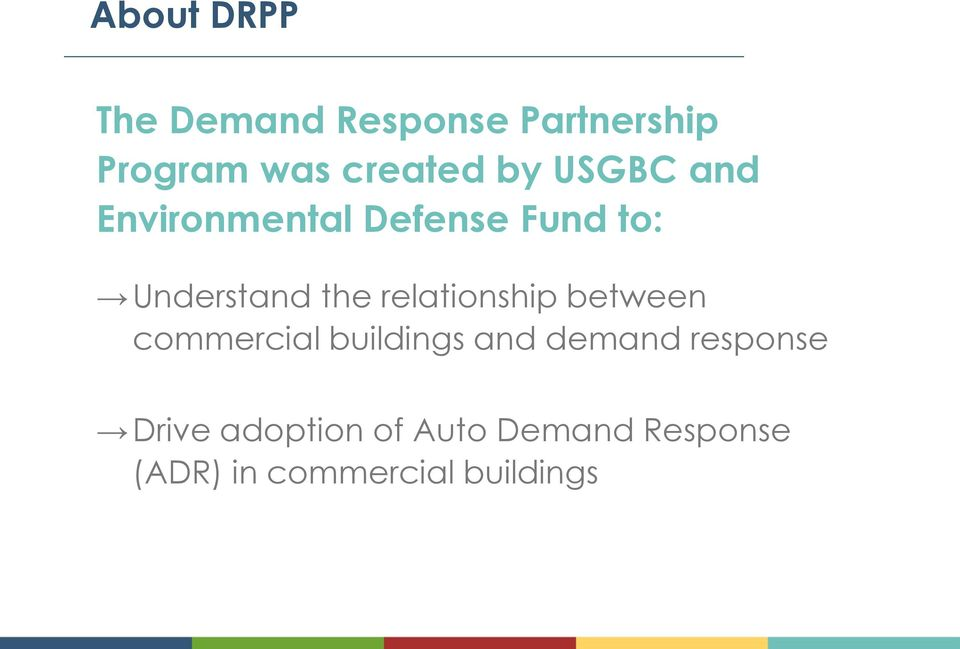 relationship between commercial buildings and demand response