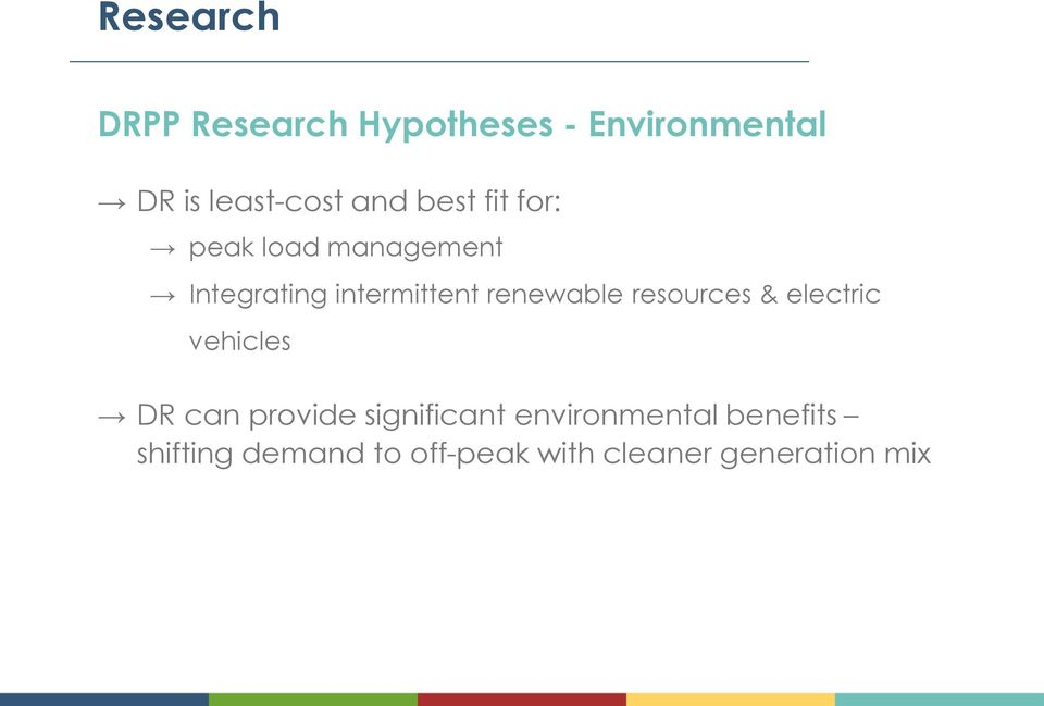 renewable resources & electric vehicles DR can provide significant