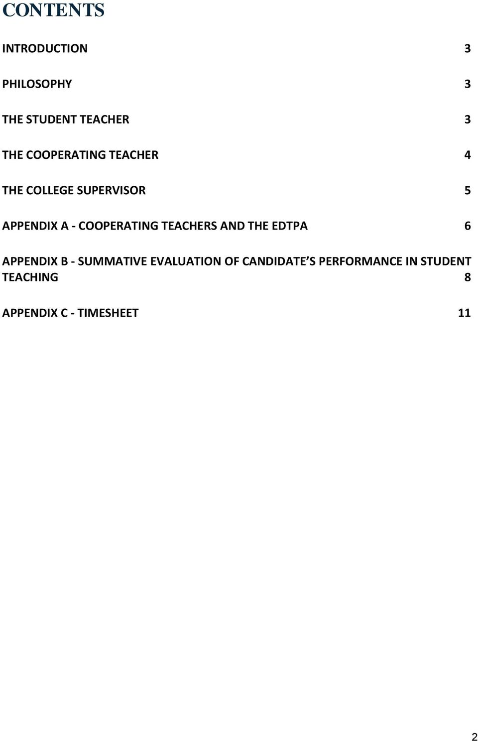 COOPERATING TEACHERS AND THE EDTPA 6 APPENDIX B - SUMMATIVE