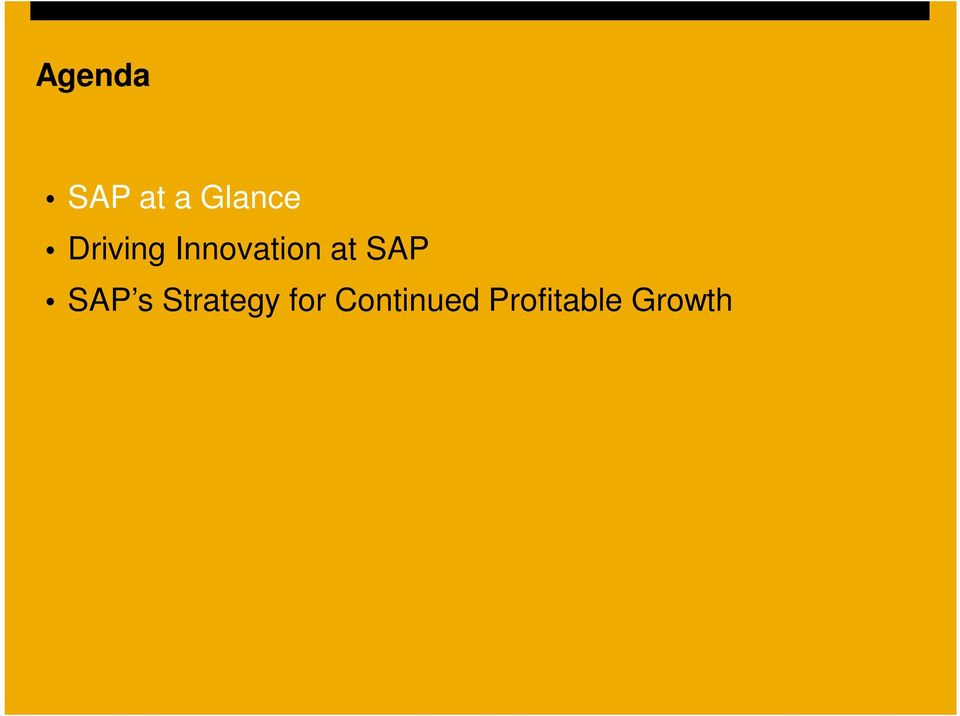 SAP SAP s Strategy for