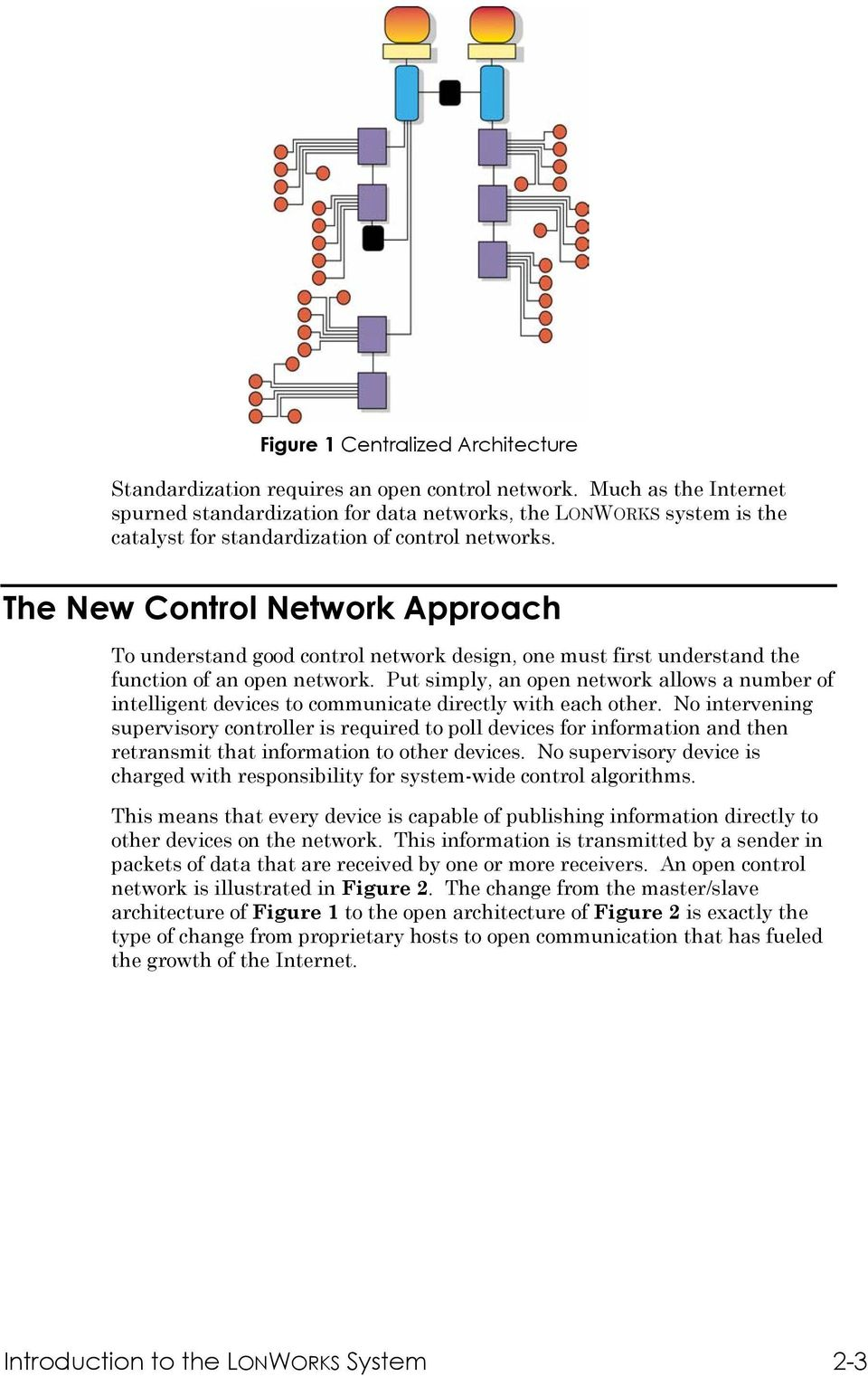The New Control Network Approach To understand good control network design, one must first understand the function of an open network.