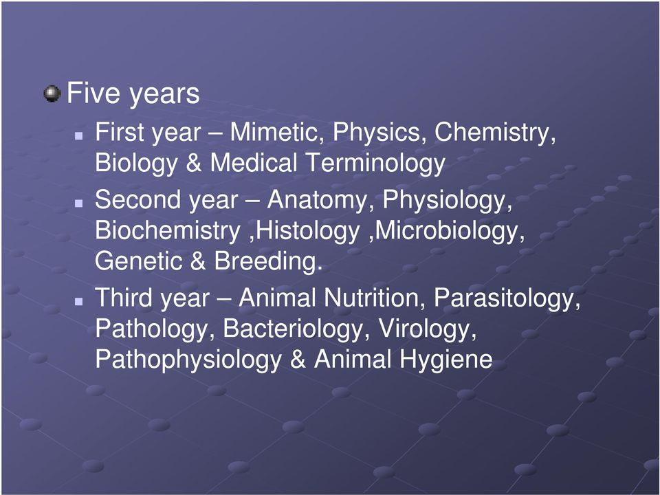 Biochemistry,Histology,Microbiology, Genetic & Breeding.