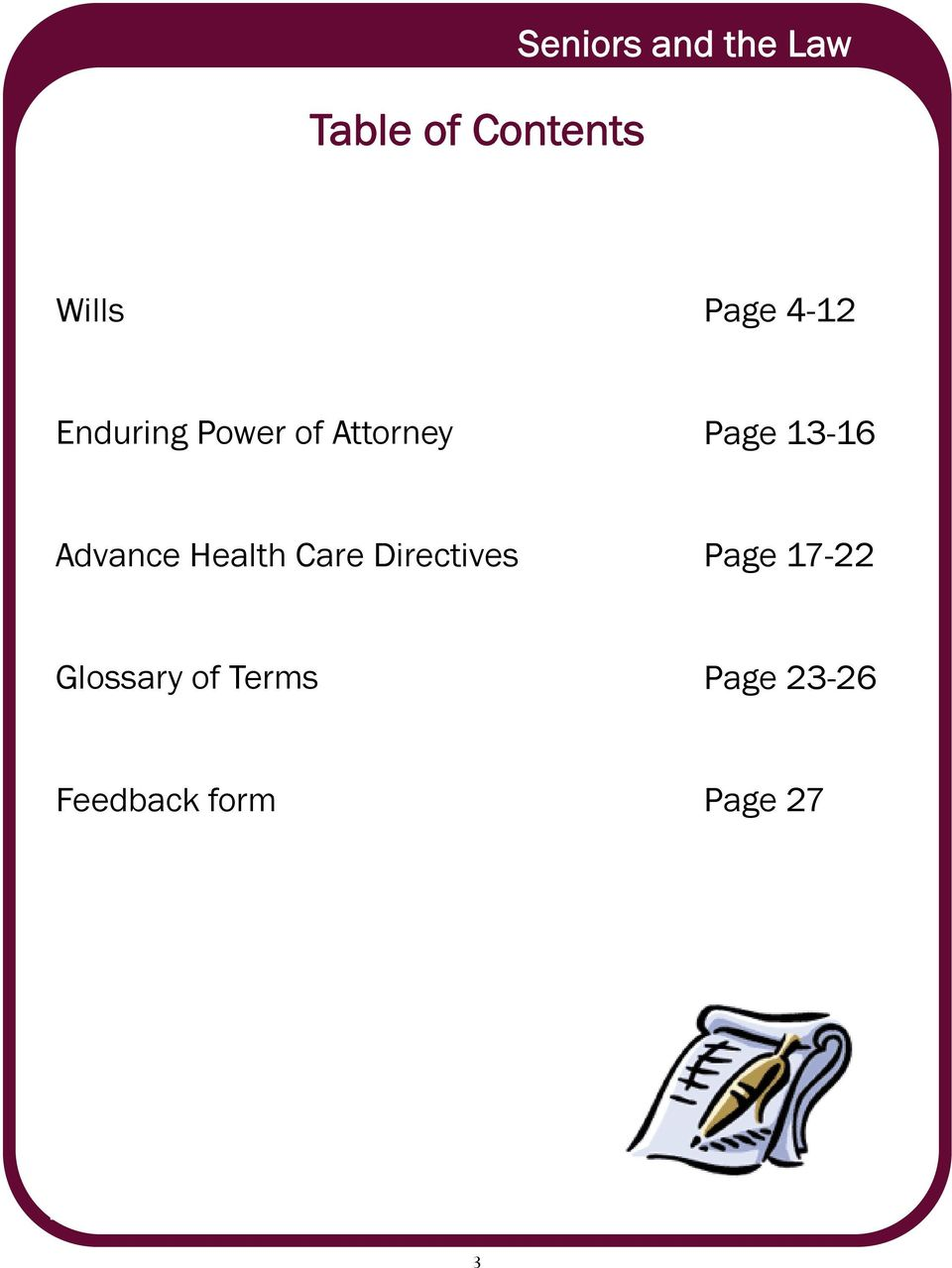 13-16 Advance Health Care Directives Page