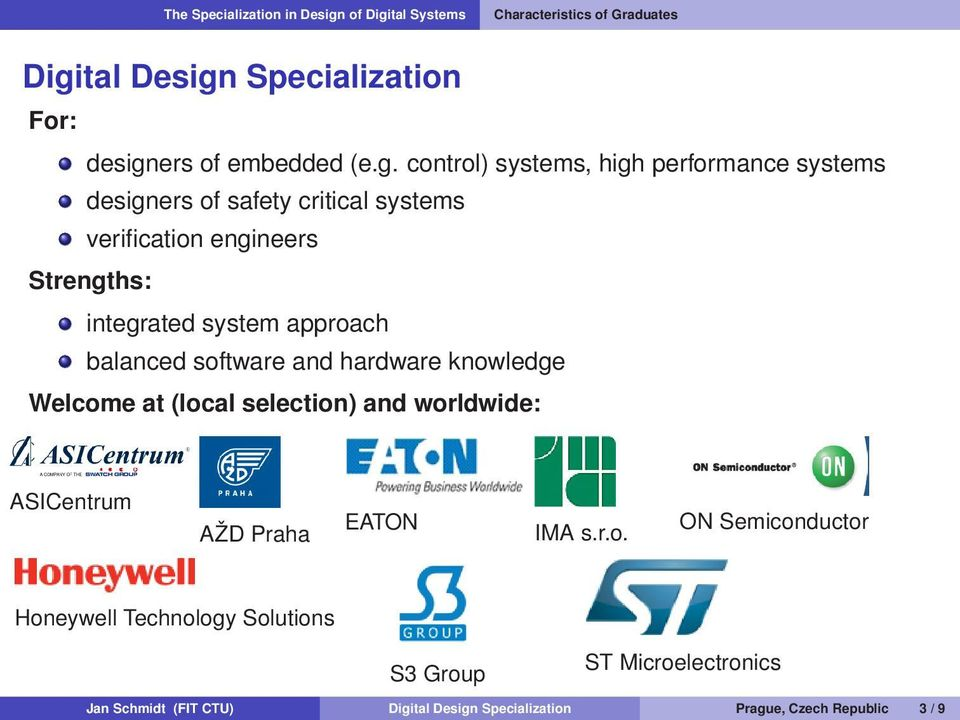 Specialization For: design