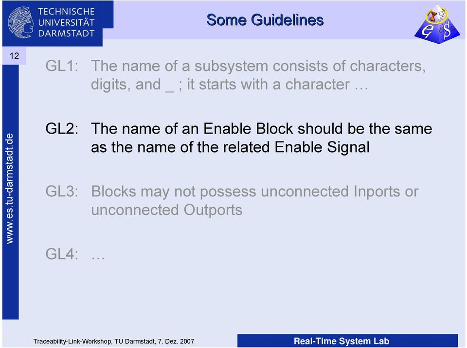 of an Enable Block should be the same as the name of the related